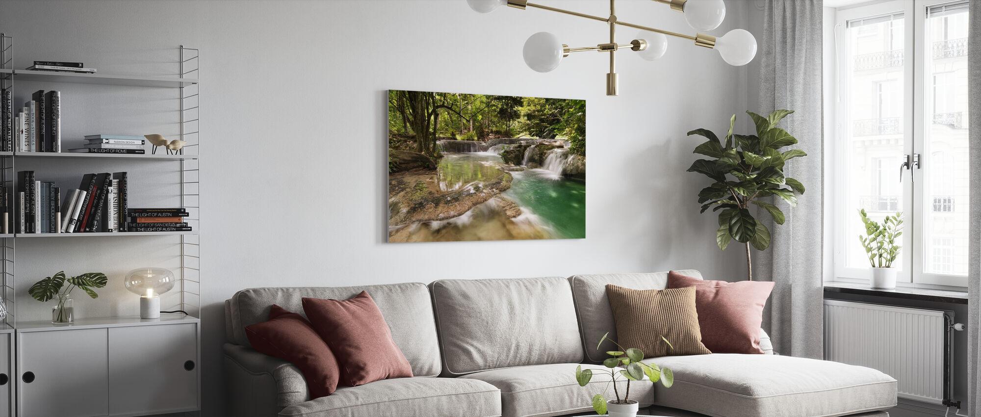 Panas Watervallen II - Canvas print - Woonkamer