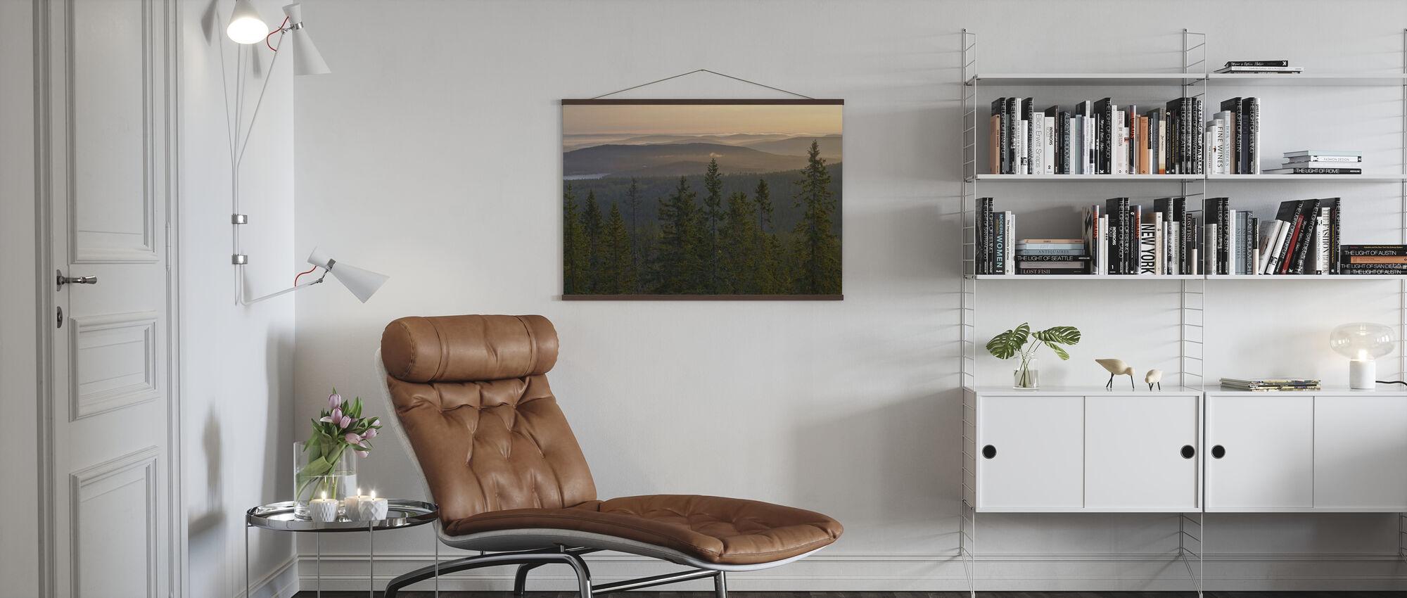 Skuleskogen National Park Spruces, Sverige - Poster - Vardagsrum