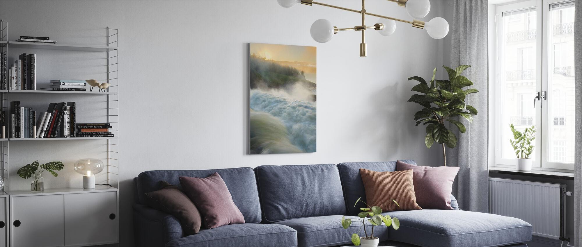 Jämtland River, Sweden - Canvas print - Living Room