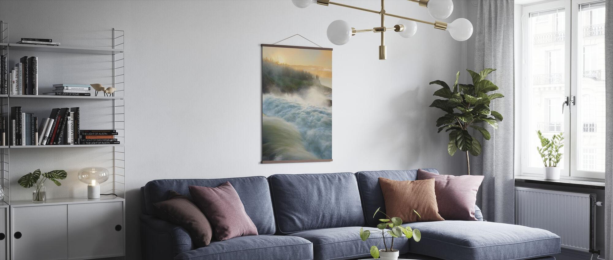 Jämtland River, Sweden - Poster - Living Room