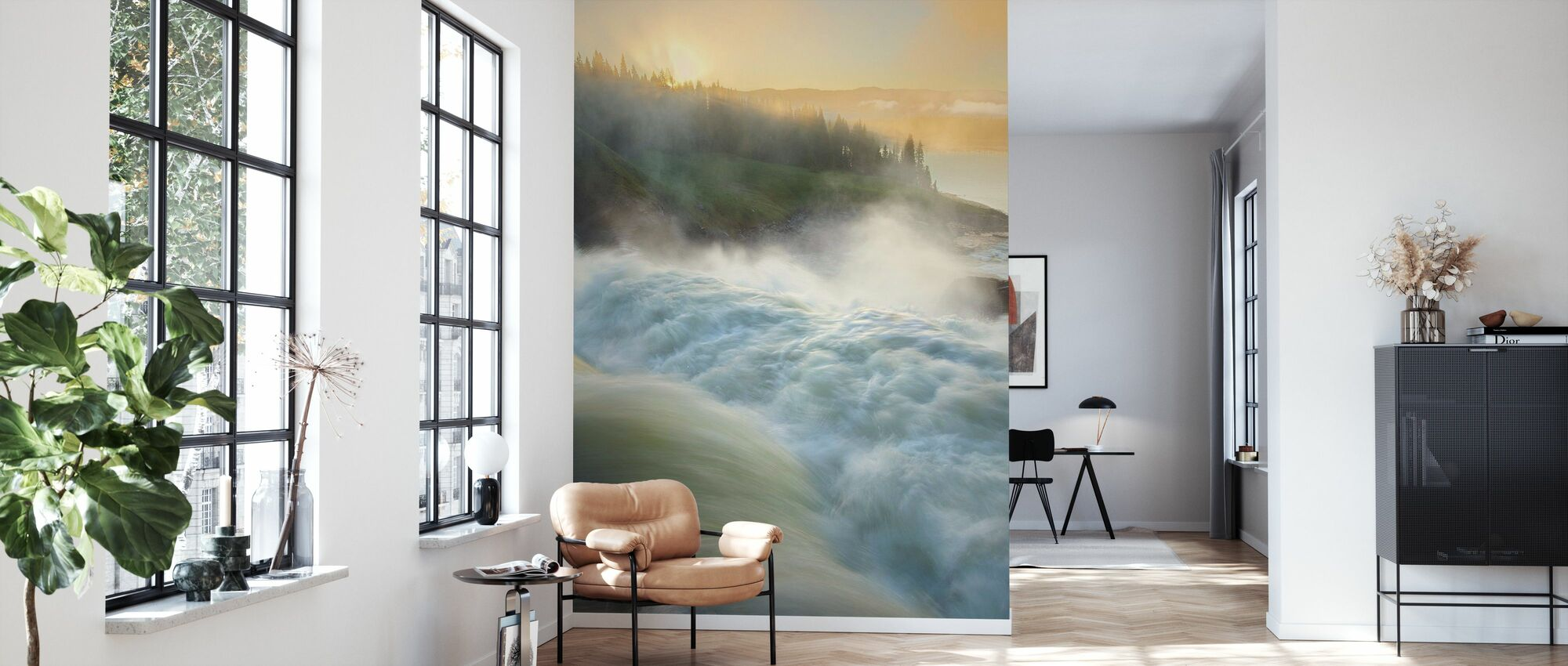 Jämtland River, Sweden - Wallpaper - Living Room