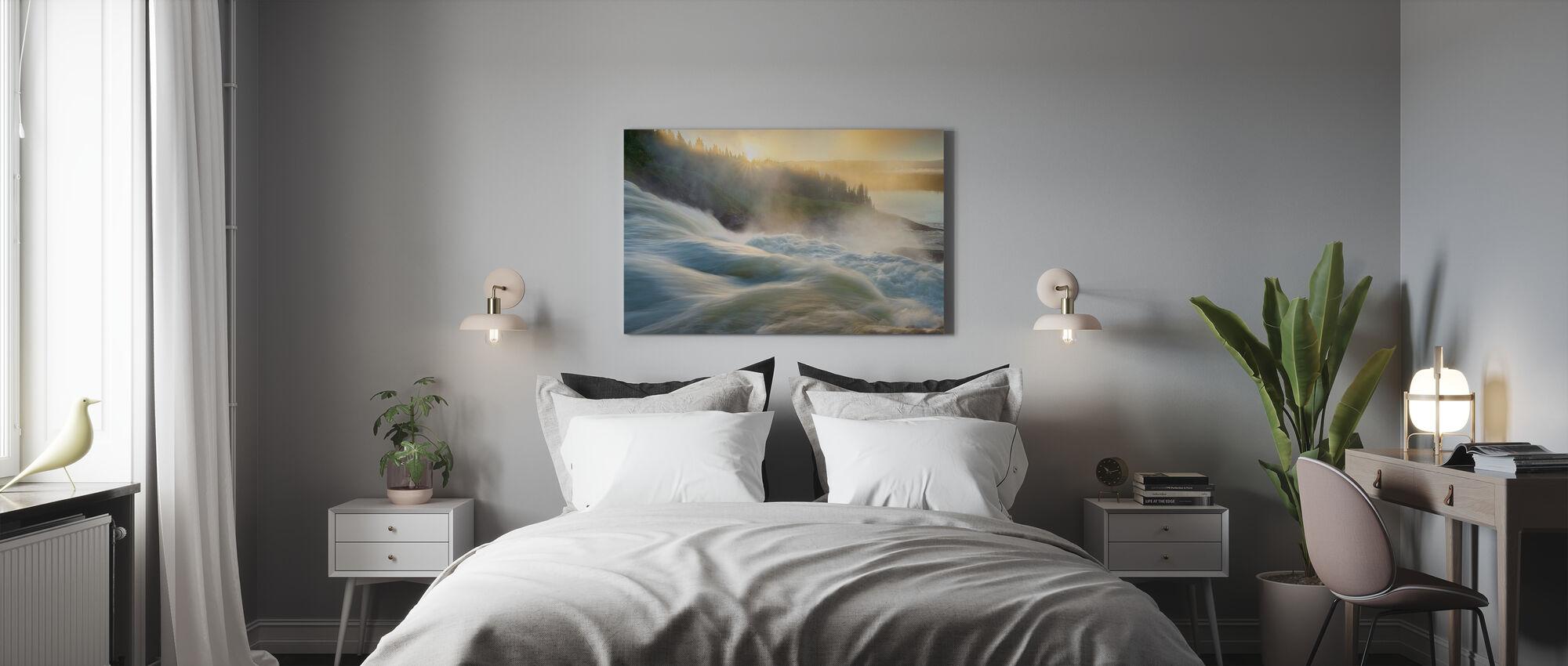 Jämtland River at Dawn, Sweden - Canvas print - Bedroom