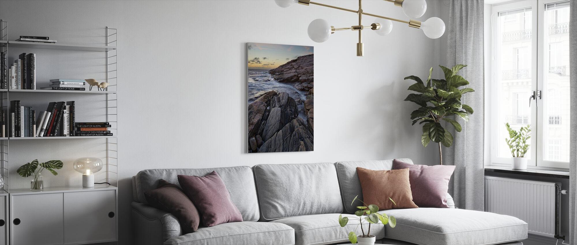 Rocks in Grebbestad, Sweden - Canvas print - Living Room