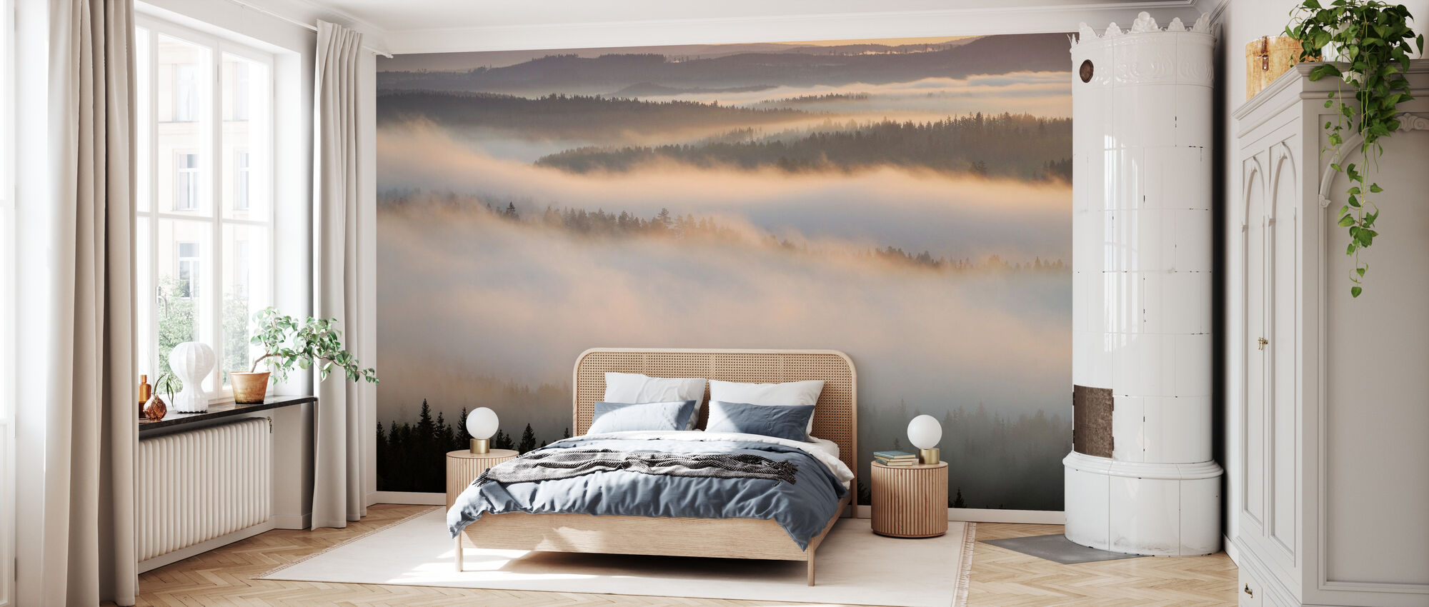 Fog in Bergslagen, Sweden - Tapet - Sovrum