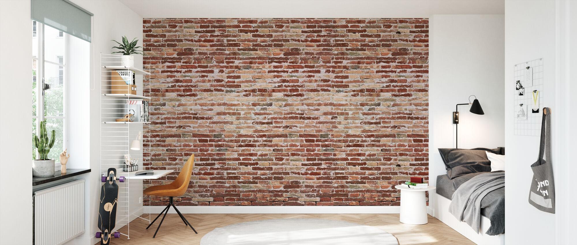 Old Ruff Brickwall - Wallpaper - Kids Room