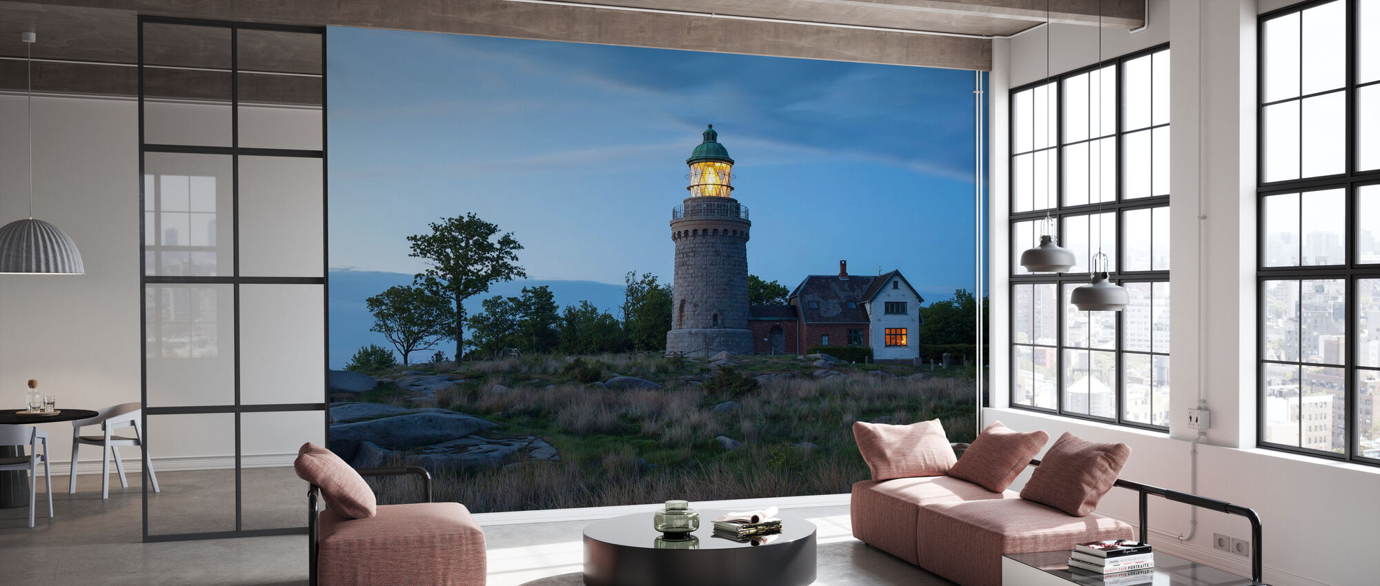 Lighthouse in Bornholm, Denmark - Wallpaper - Office