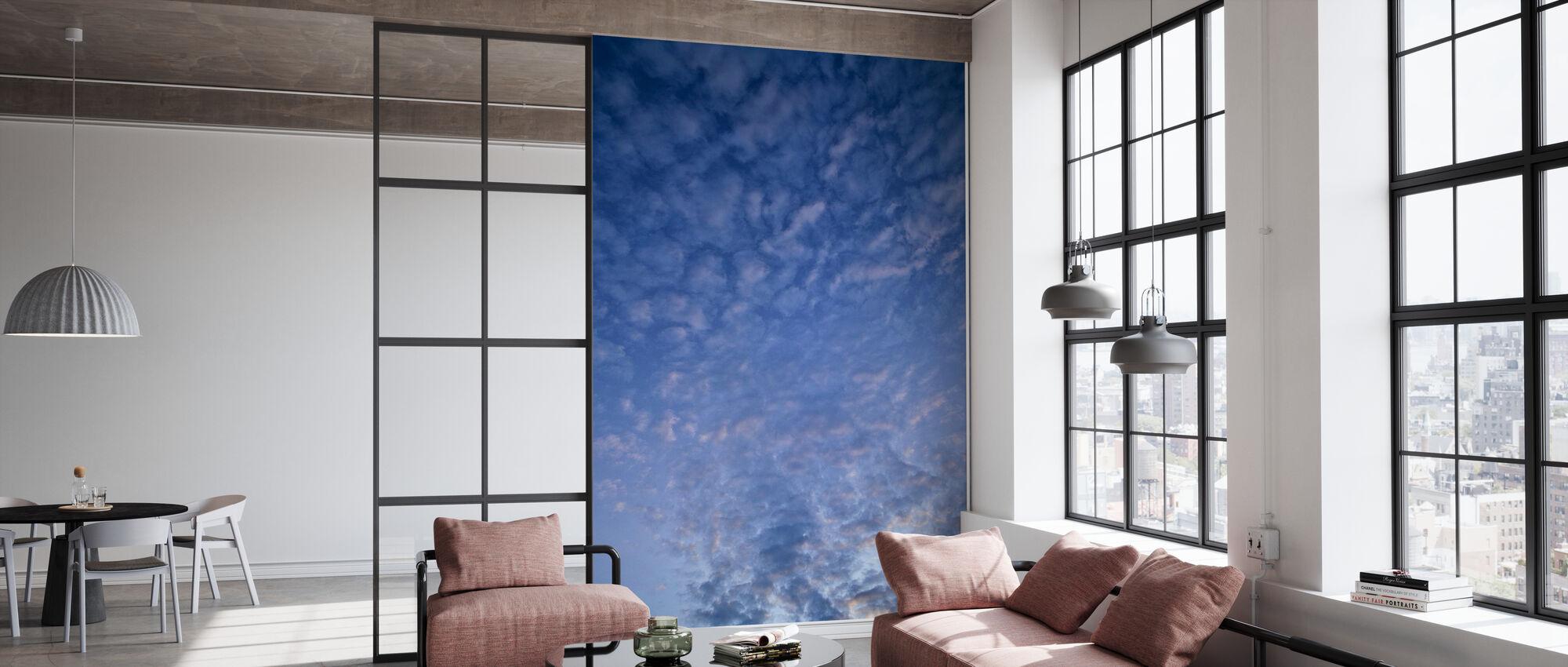 Blauwe Cloudscape - Behang - Kantoor