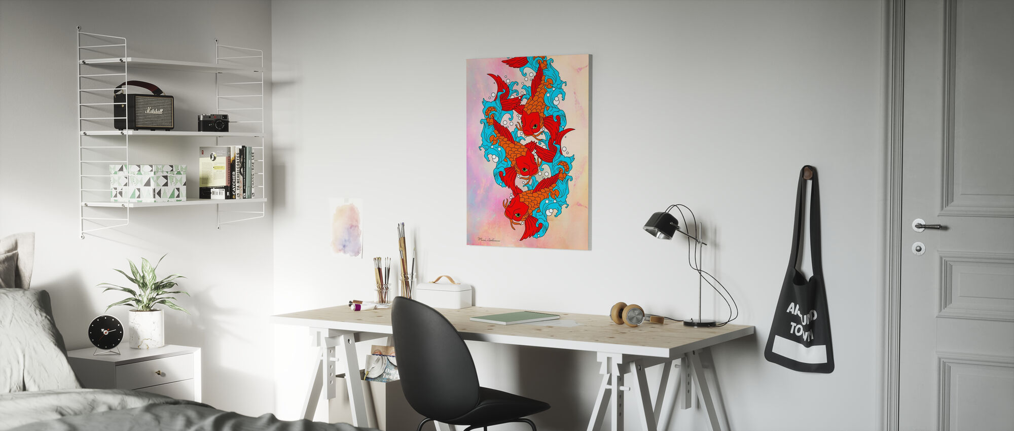 Koi Fish - Canvas print - Kids Room