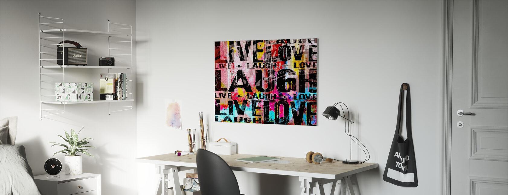 Live Laugh Love - Stampa su tela - Camera dei bambini