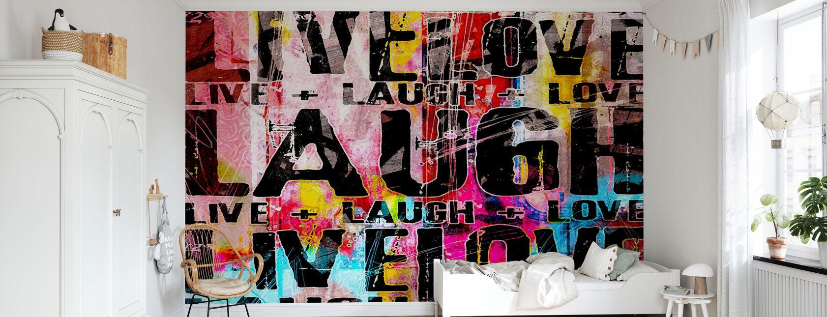 Live Laugh Love - Wallpaper - Kids Room