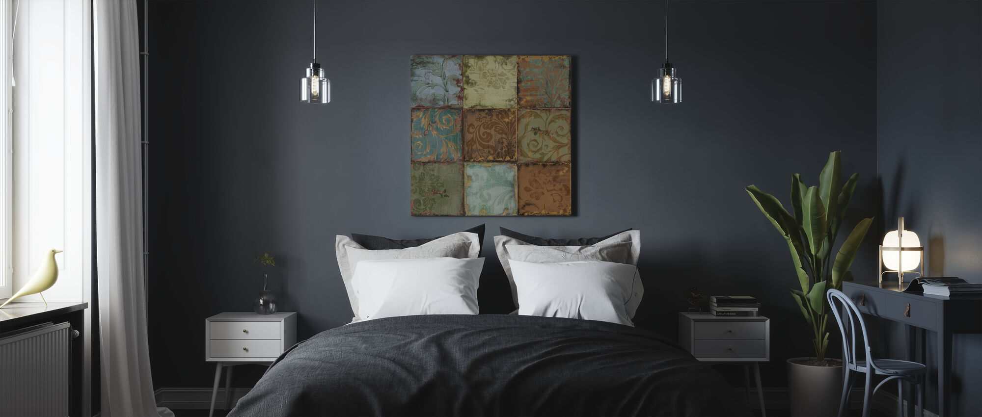Tapestry Tiles 1 - Canvas print - Bedroom