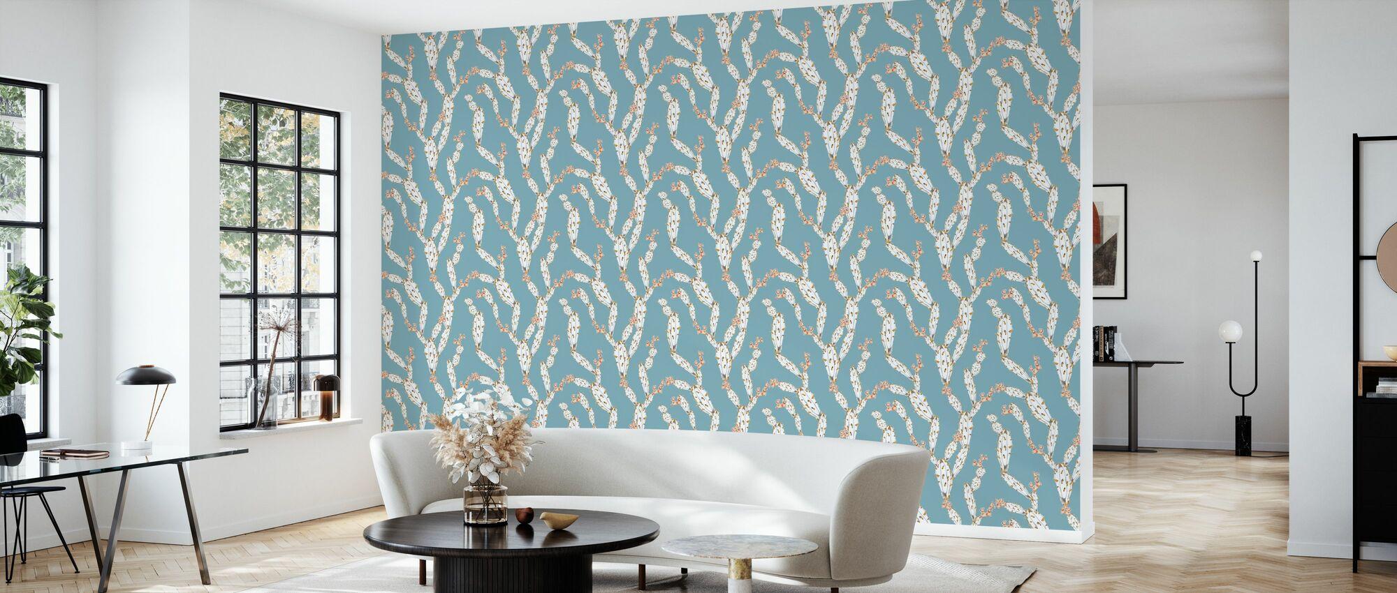 Meist Kaktus Blau - Tapete - Wohnzimmer