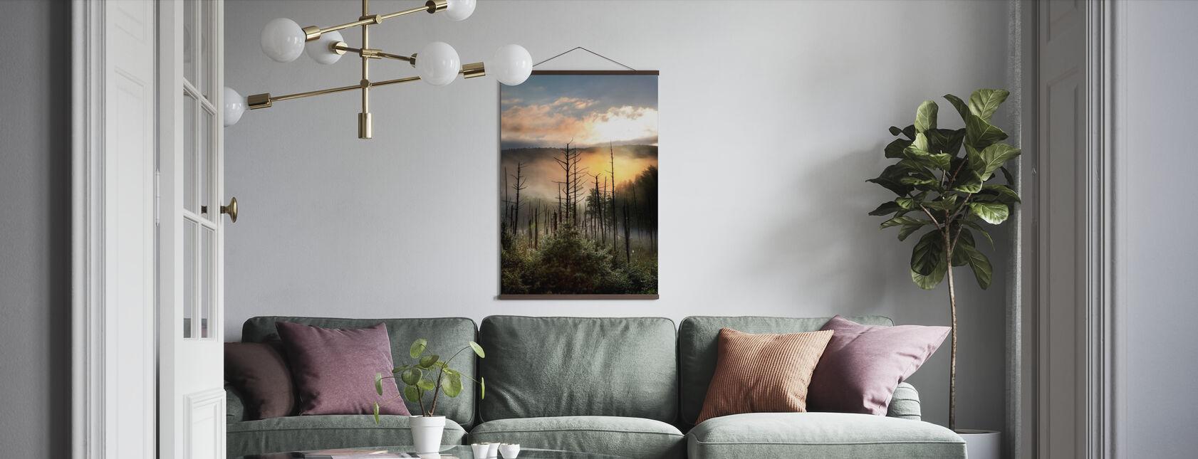 Vermont Moeras bij Sunrise - Poster - Woonkamer