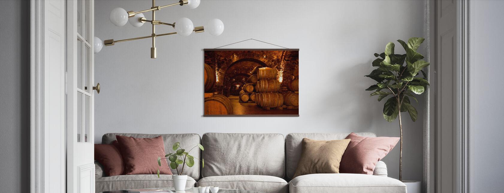 Wijnkelder Vaten - Poster - Woonkamer