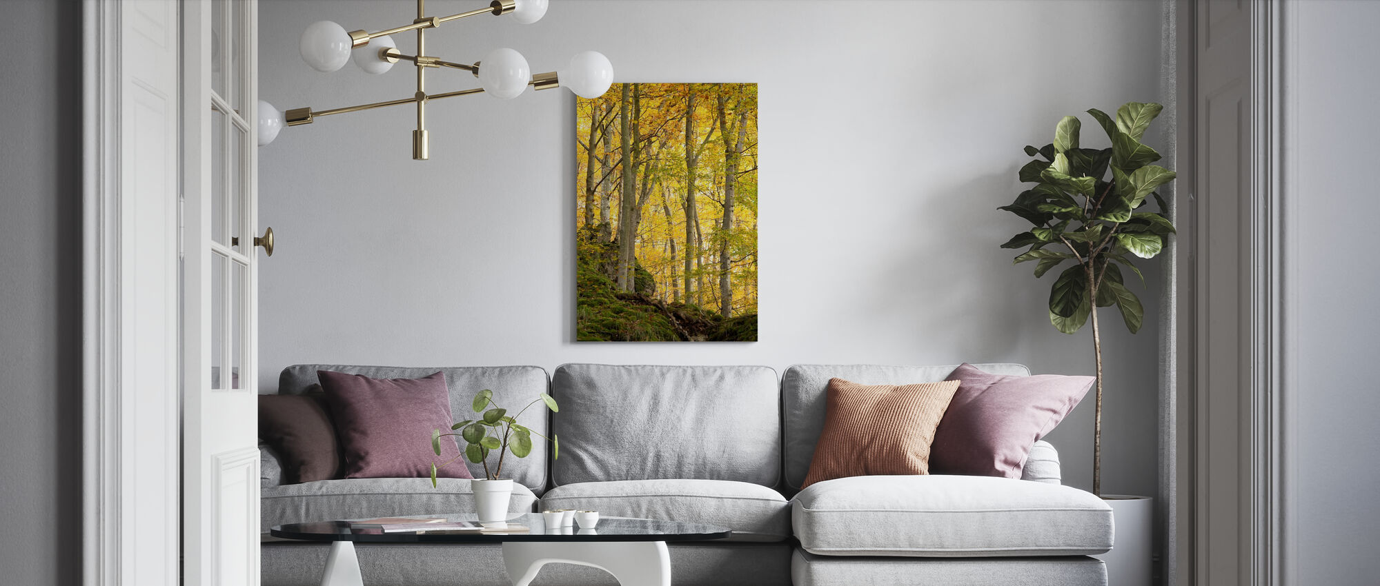 Autumn Aspen Tree - Canvas print - Living Room
