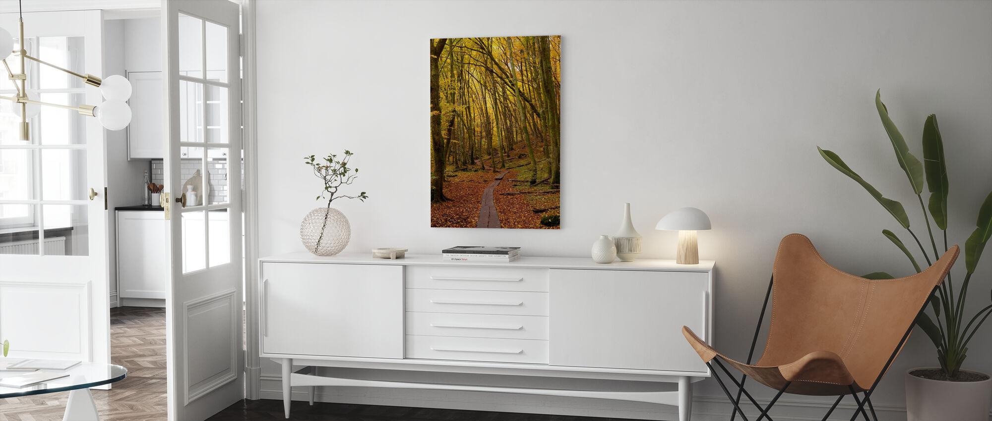 Path through Beech Wood - Canvas print - Living Room
