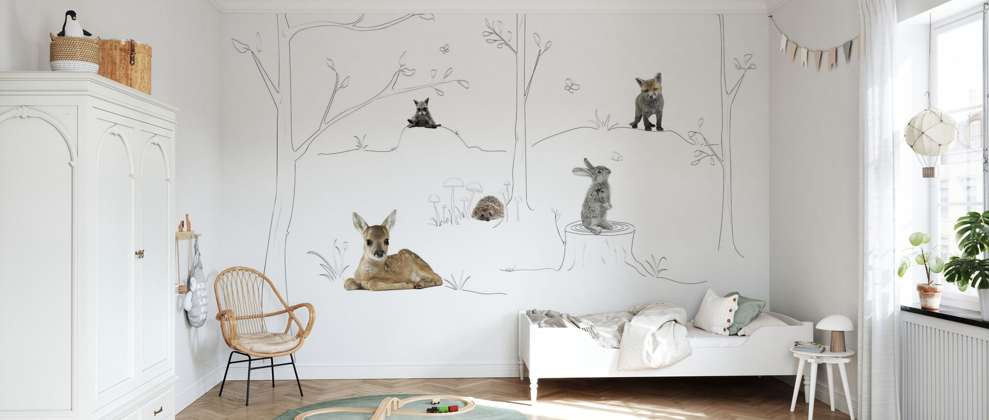 Baby Forest - Wallpaper - Kids Room