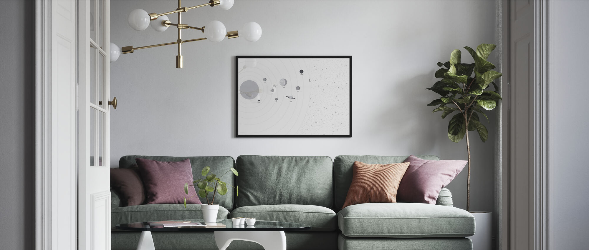 Planets and Stars - Framed print - Living Room