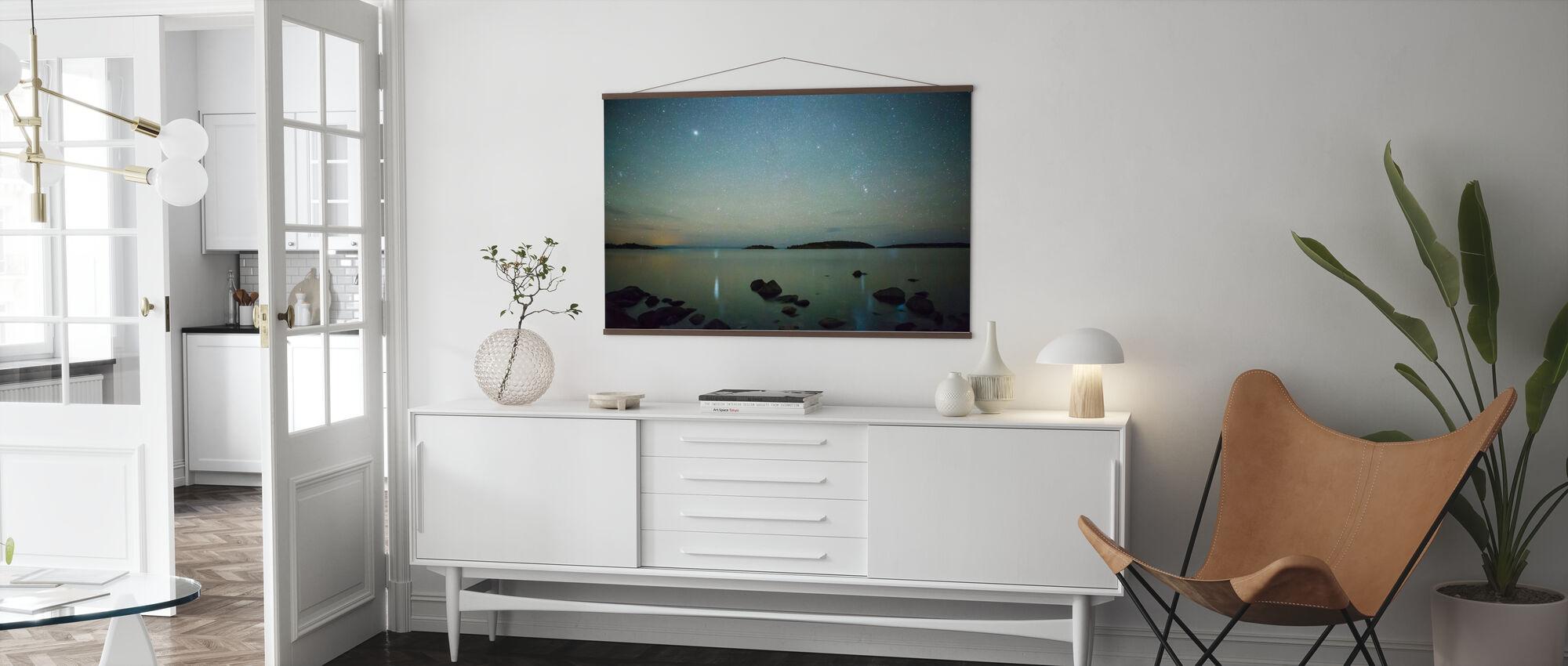 Starry Sky over Juniskär, Sweden - Poster - Living Room