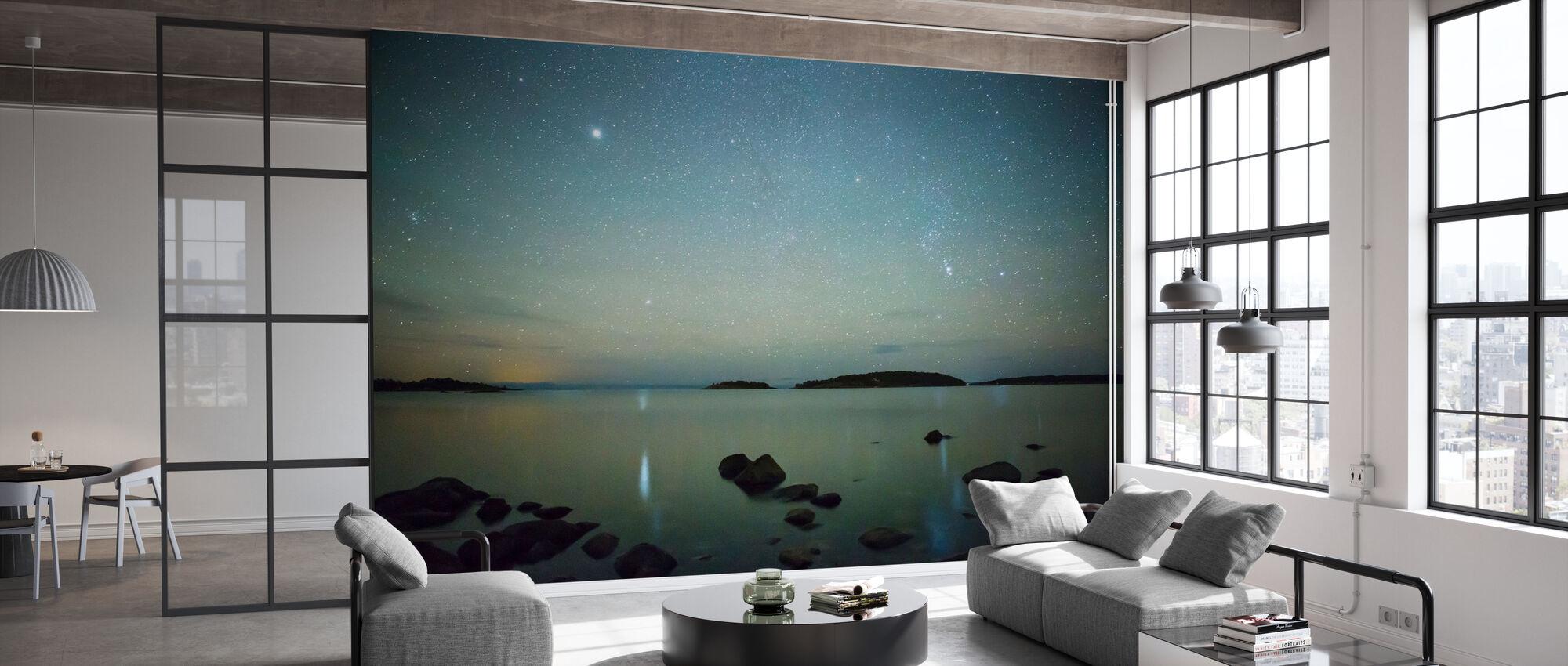 Starry Sky over Juniskär, Sweden - Tapet - Kontor
