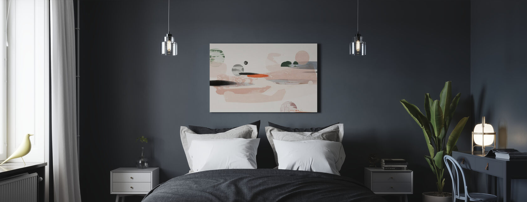Cosmic Abstraction - Canvas print - Bedroom