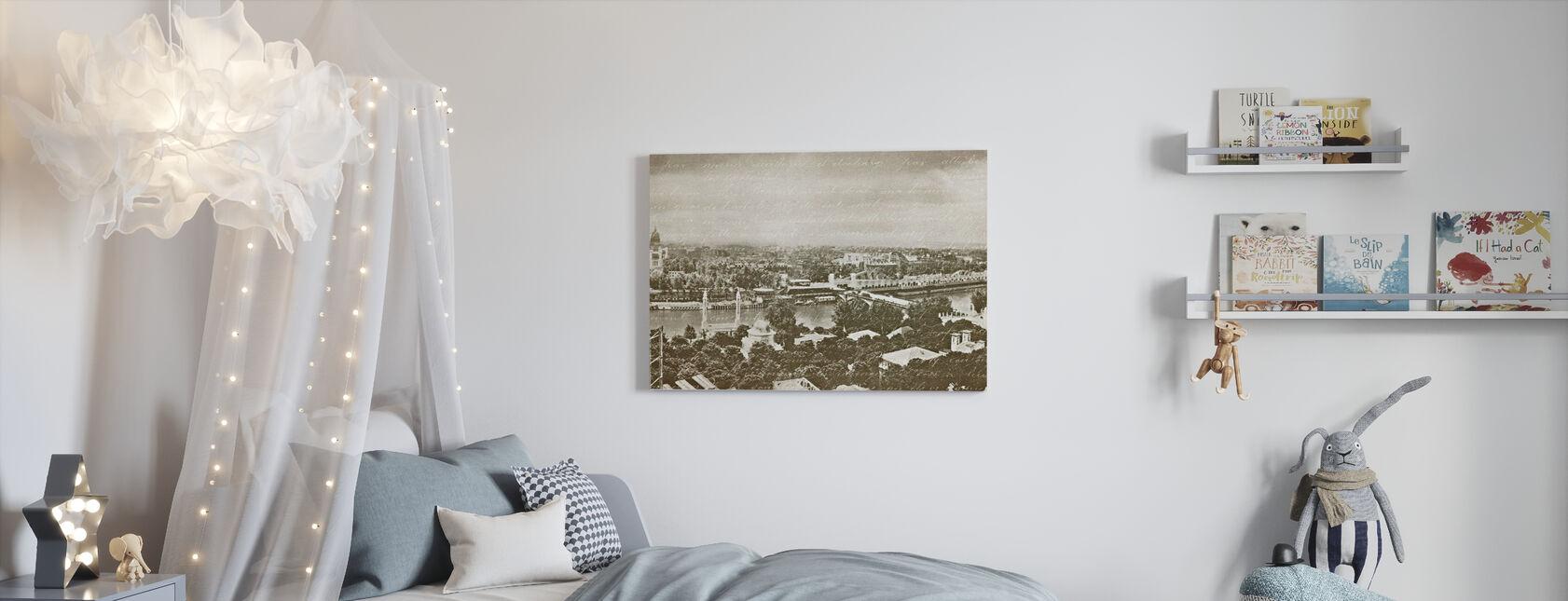 Pariisin Panorama - Canvastaulu - Lastenhuone