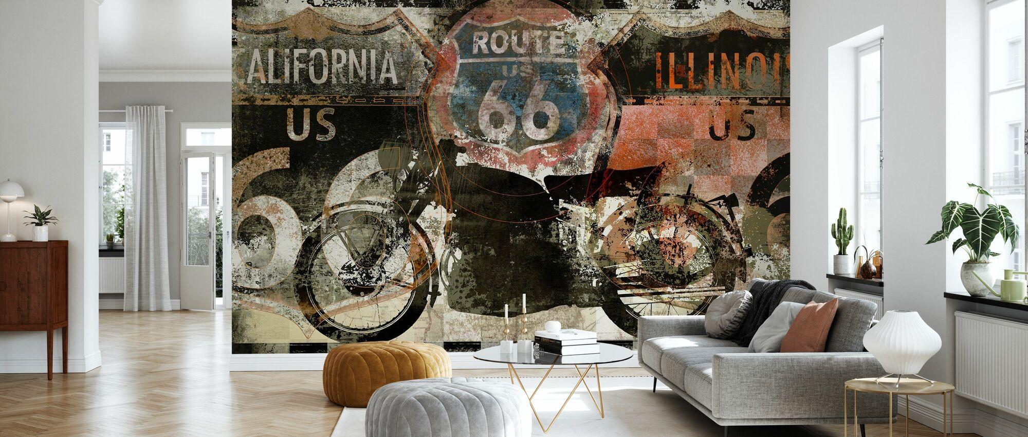 Route 66 US - Wallpaper - Living Room