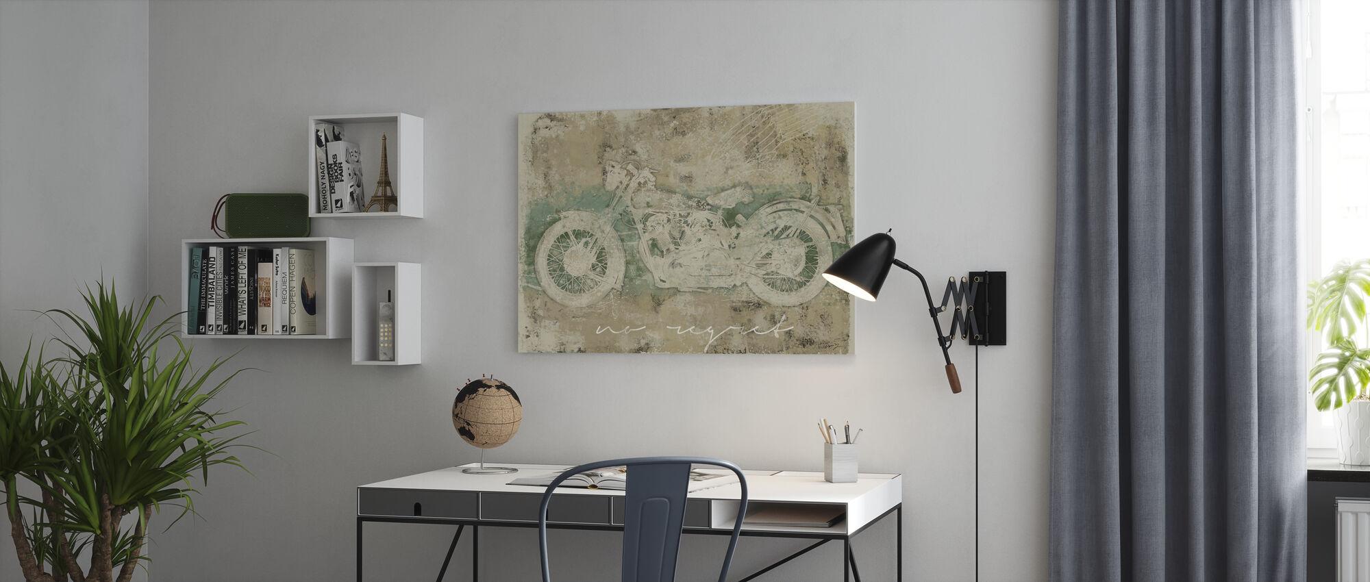 Motorfiets Geen spijt - Canvas print - Kantoor