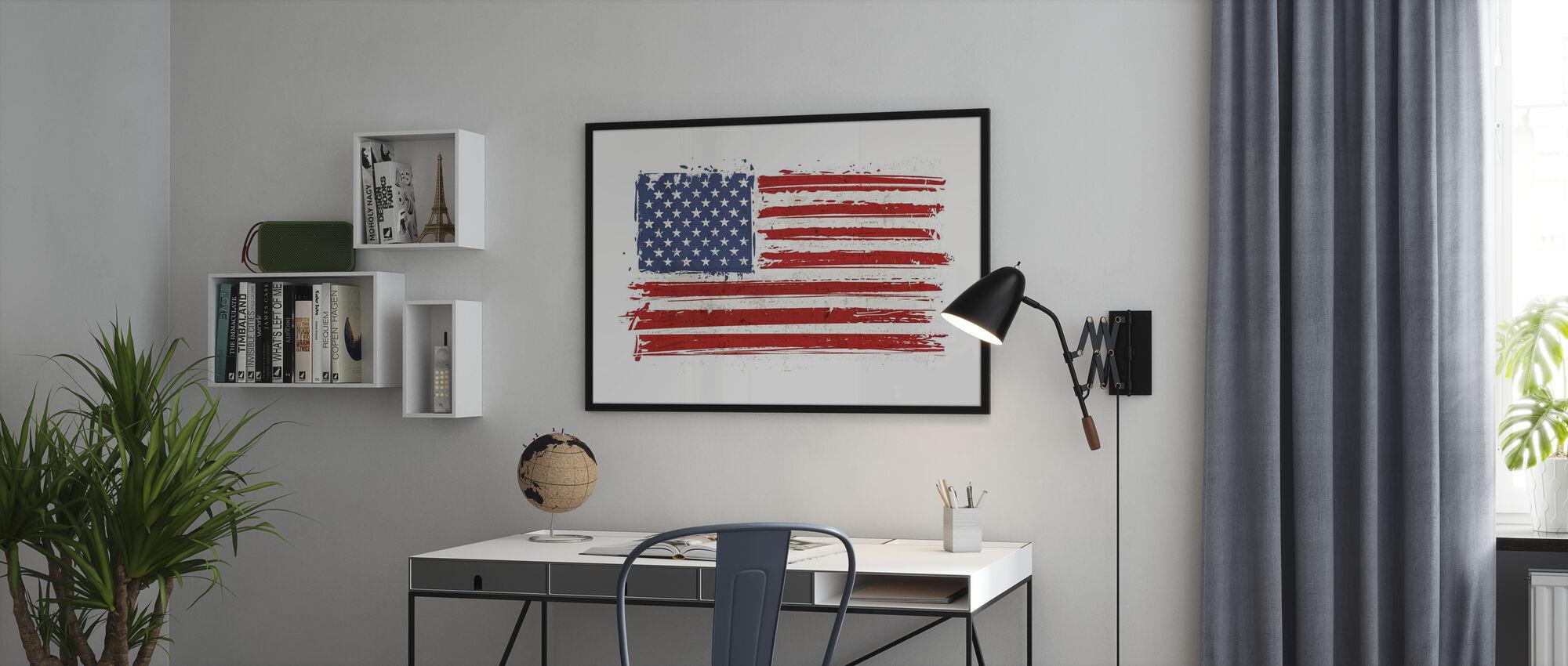 Flag USA - Innrammet bilde - Kontor