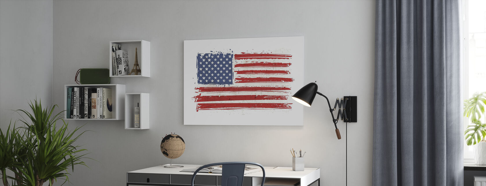 Flag USA - Canvastavla - Kontor