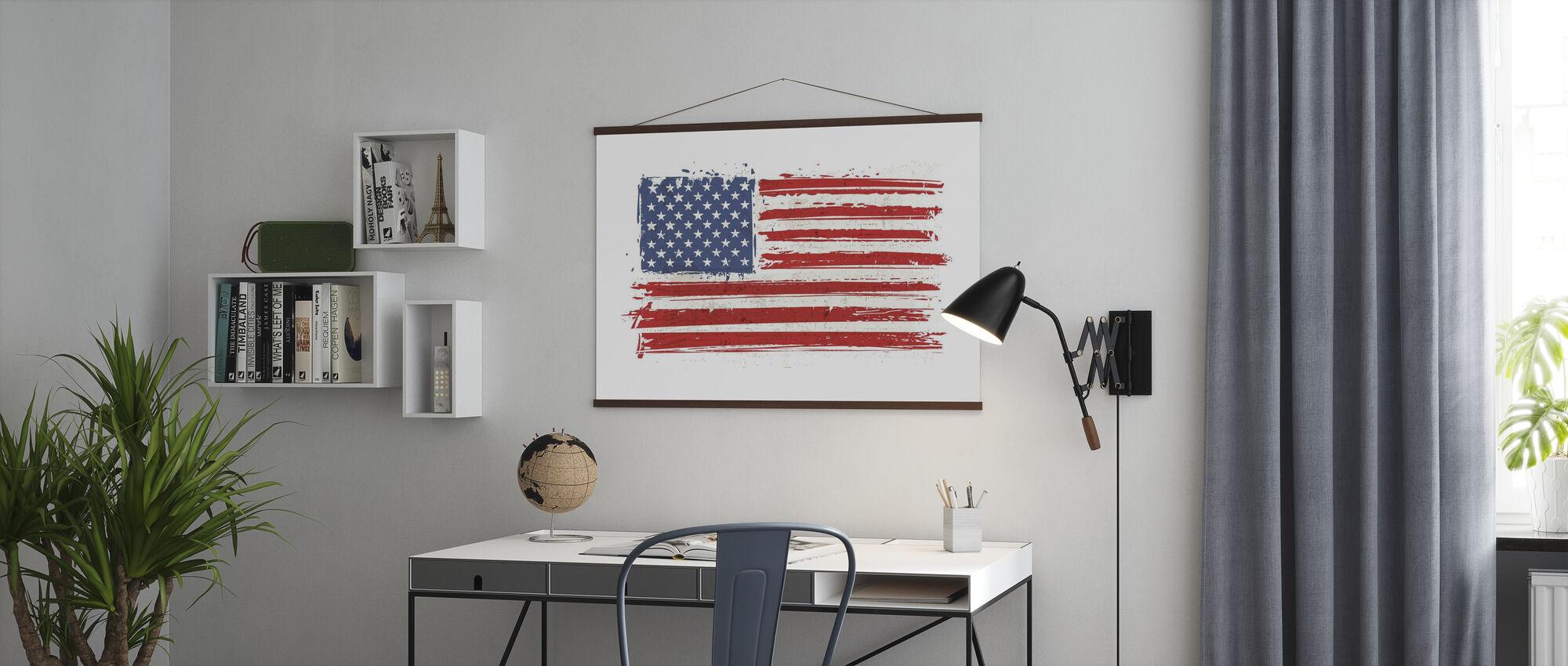 Flag USA - Juliste - Toimisto