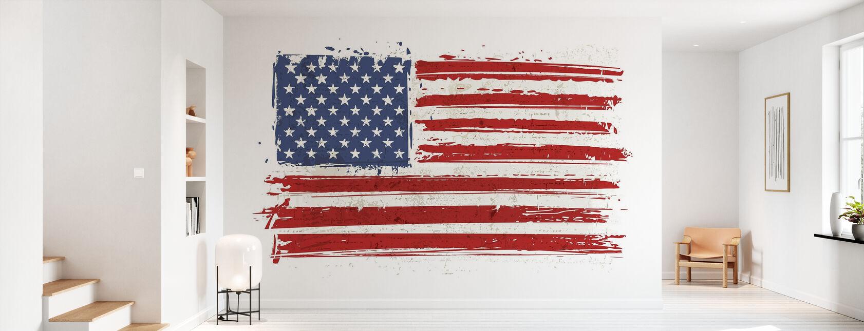 Flag USA - Papel pintado - Corredor