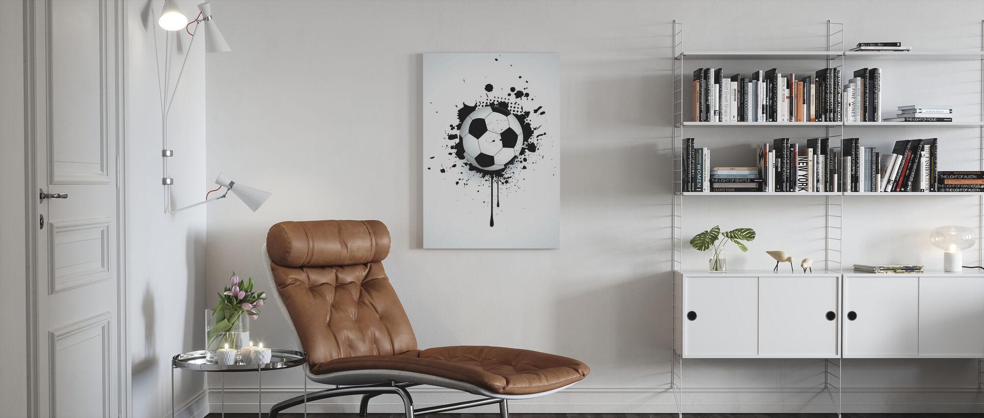 Ball Through Wall - Canvas print - Living Room