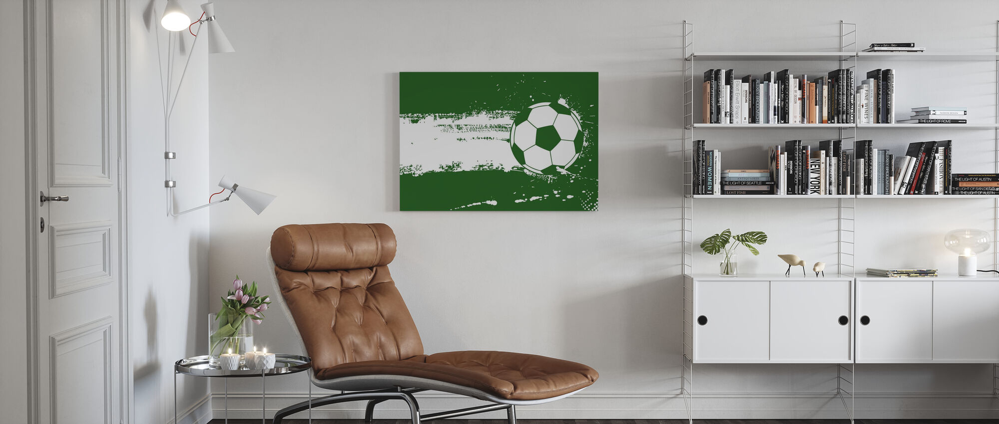 Football Vert - Impression sur toile - Salle à manger