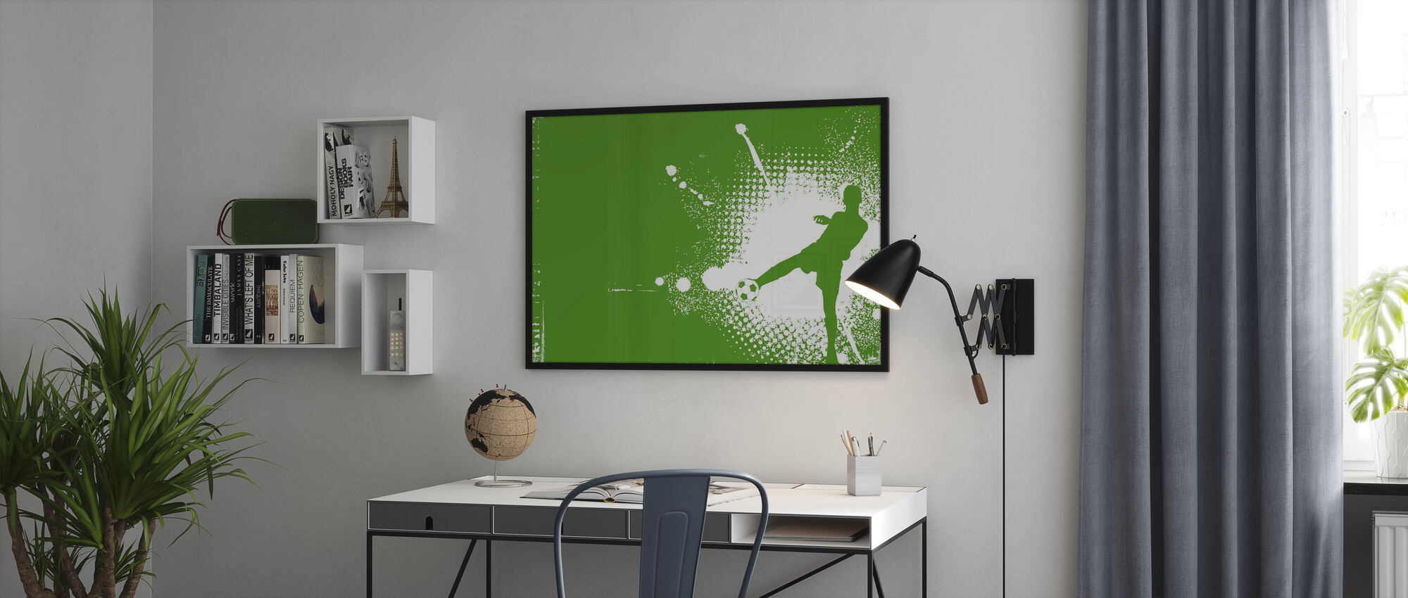 Voetbalspeler Groen - Poster - Kantoor