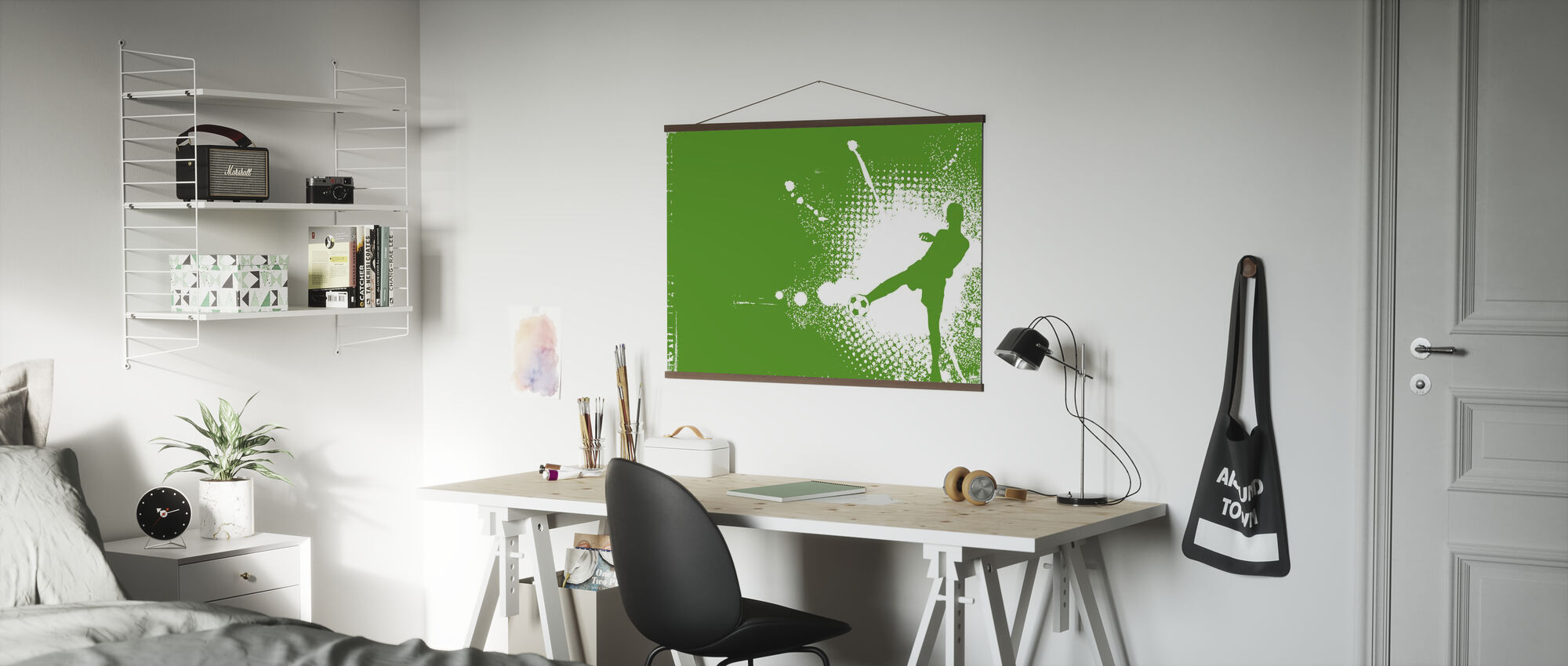 Soccer Player Green - Poster - Office