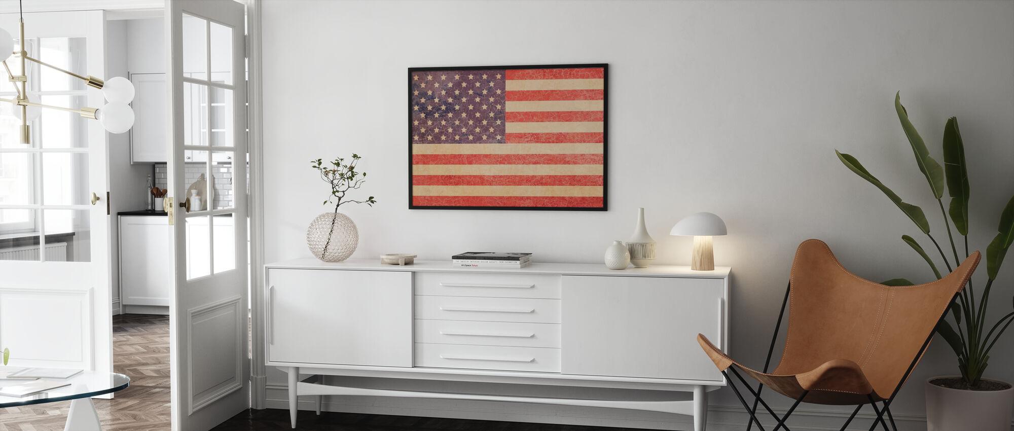 USA Vintage Map - Poster - Woonkamer