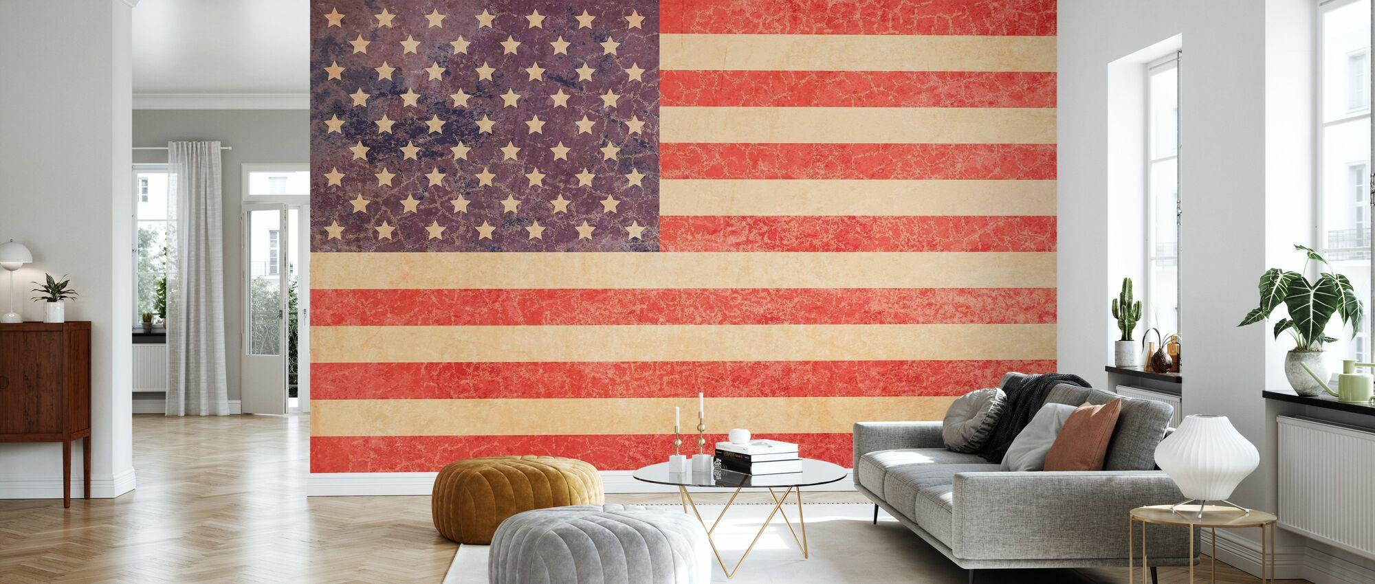 USA Vintage Map - Wallpaper - Living Room