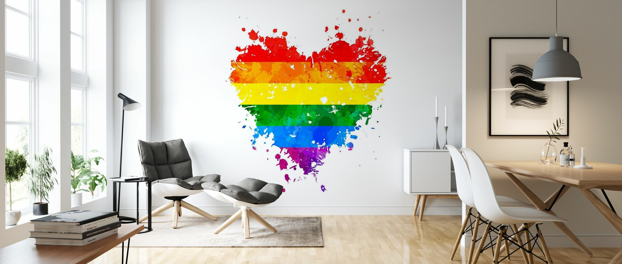 LGBT Grungy Heart - Wallpaper - Living Room