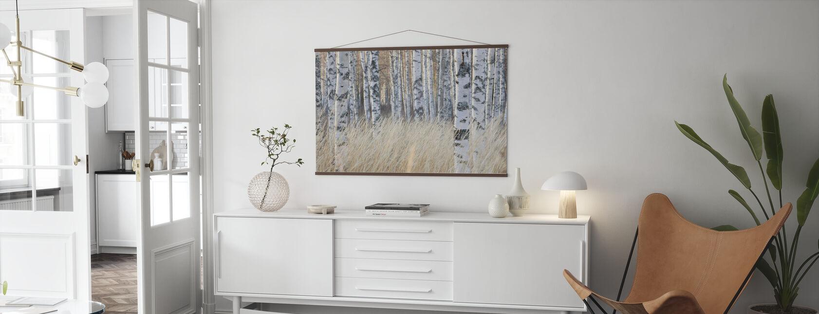 Birkenwald hell - Poster - Wohnzimmer