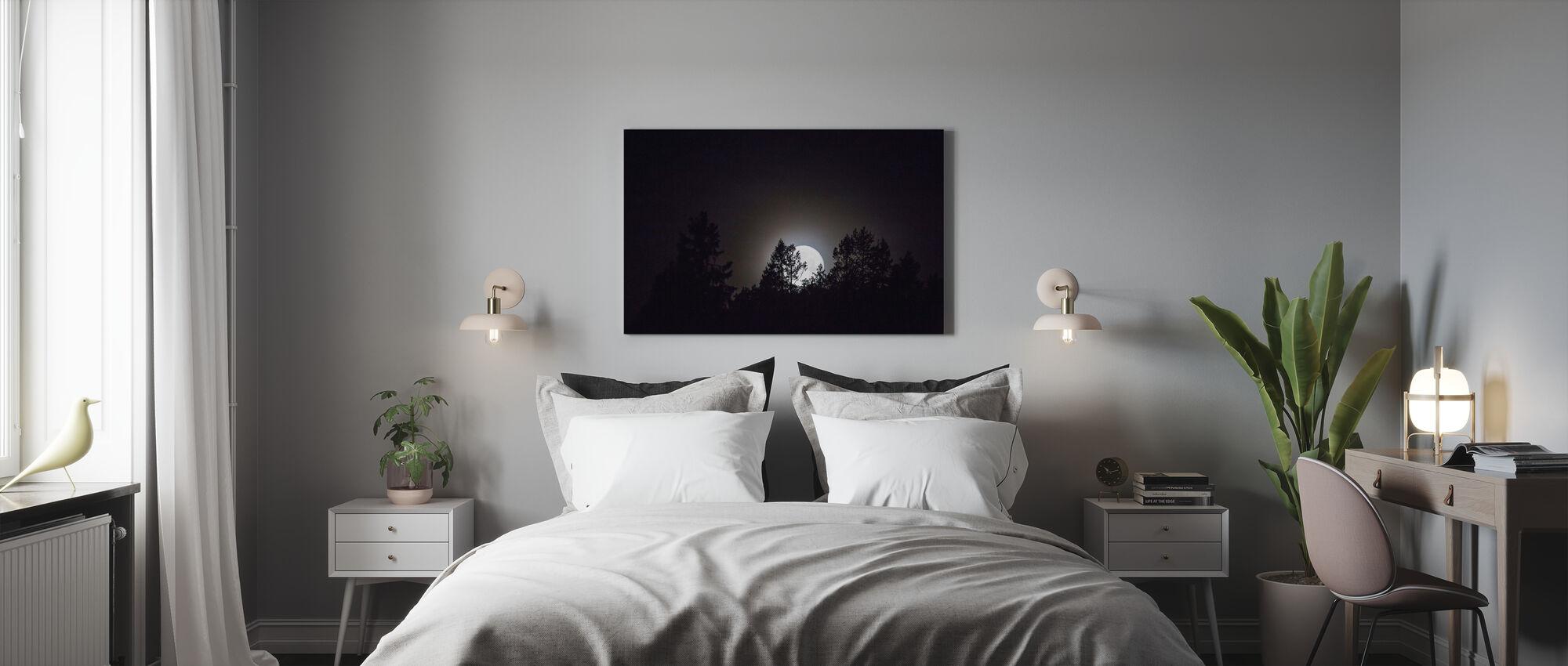 Månsken över Medelpad, Sverige, Europa - Canvastavla - Sovrum
