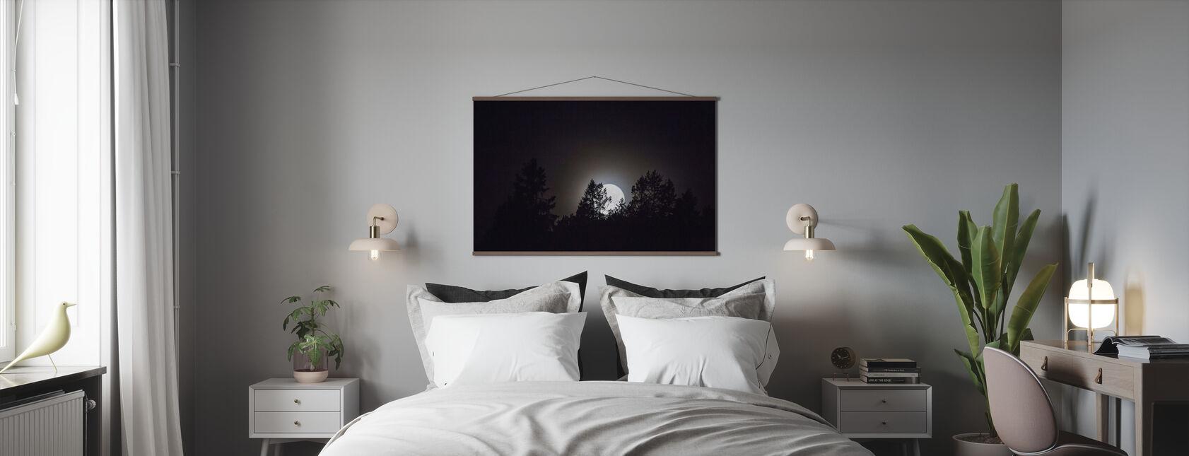 Måneskinn over Medelpad, Sverige, Europa - Plakat - Soverom