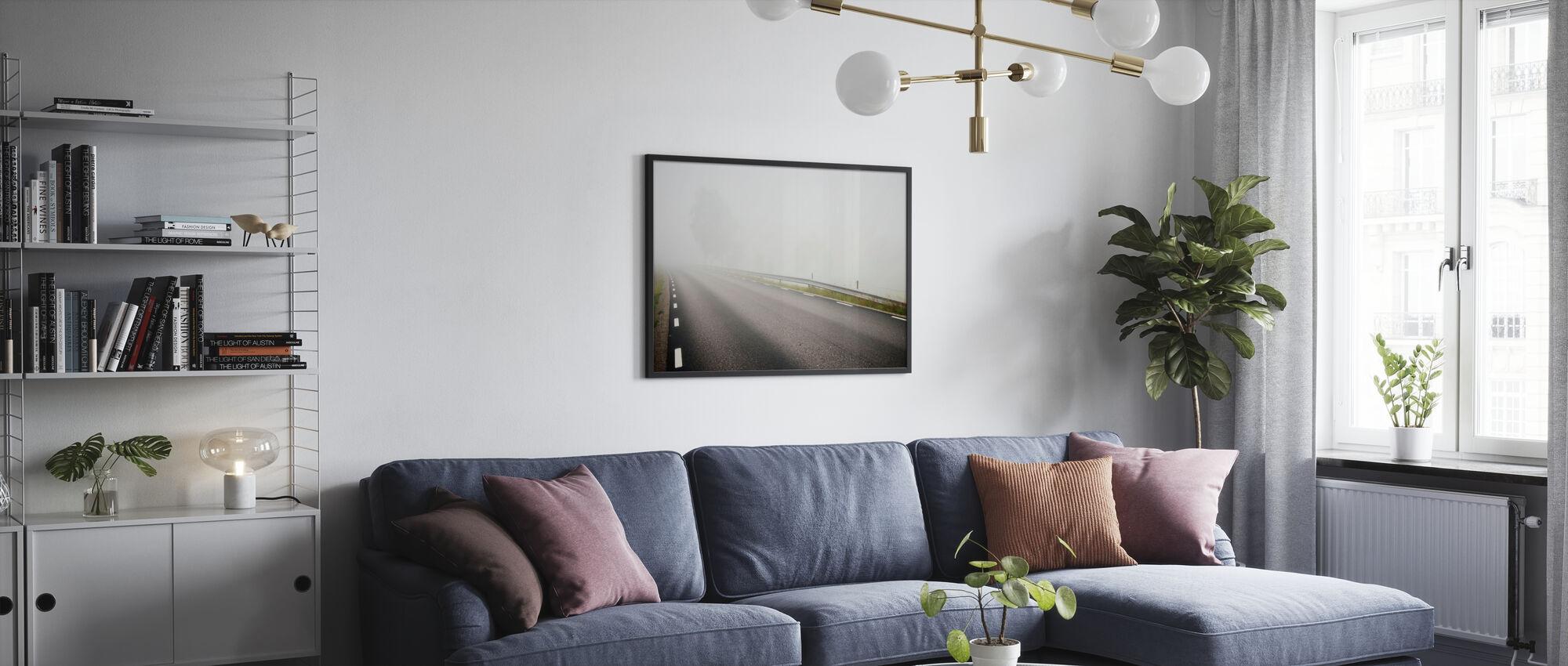 Misty Road in Småland, Sweden - Poster - Living Room