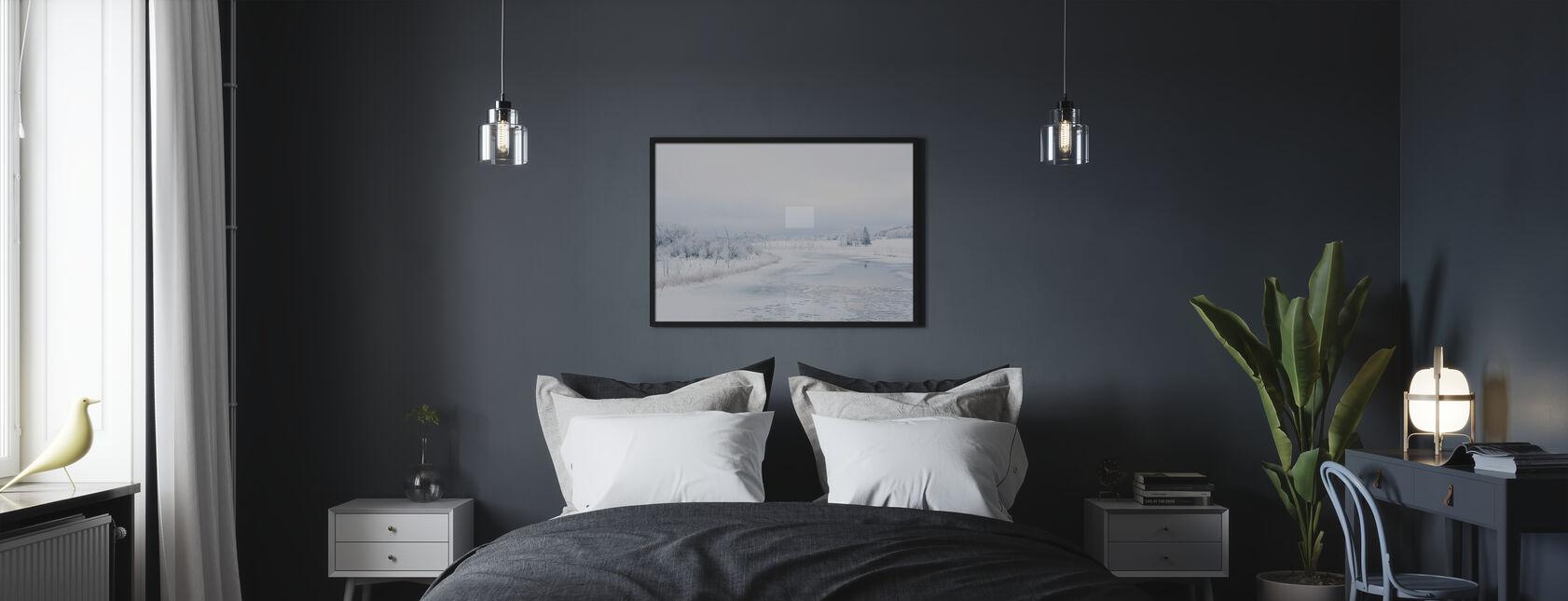 Svartån talvella, Ruotsissa - Kehystetty kuva - Makuuhuone