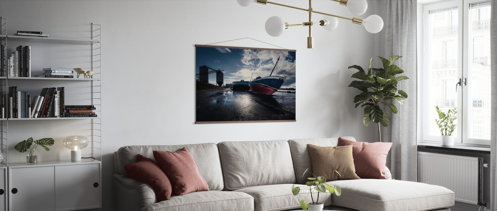 Stranded Boats in Malmö, Sweden - Poster - Living Room