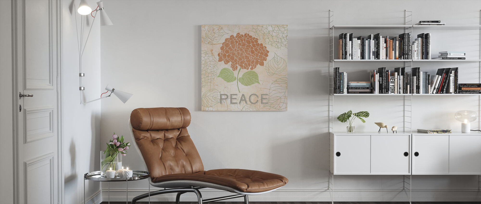 Floral Peace - Canvas print - Living Room