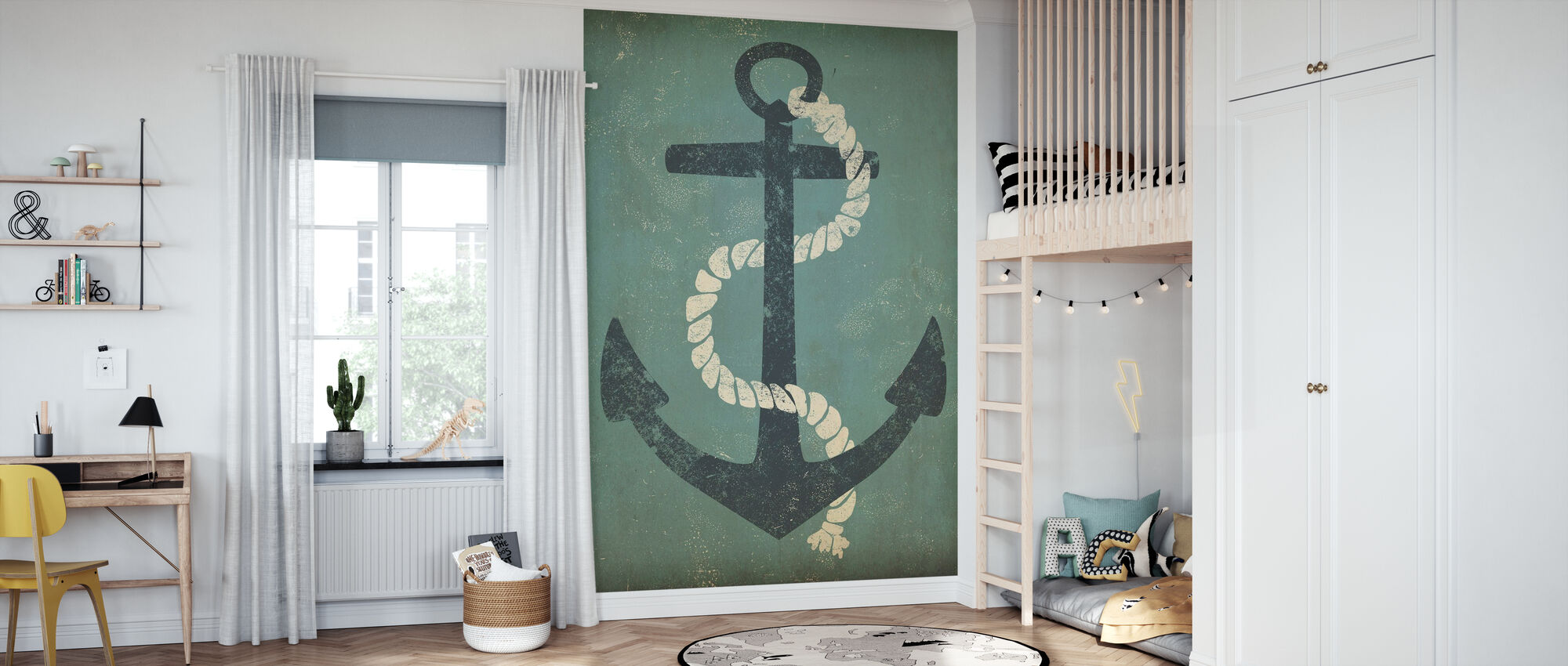 Nautical Anchor - Wallpaper - Kids Room
