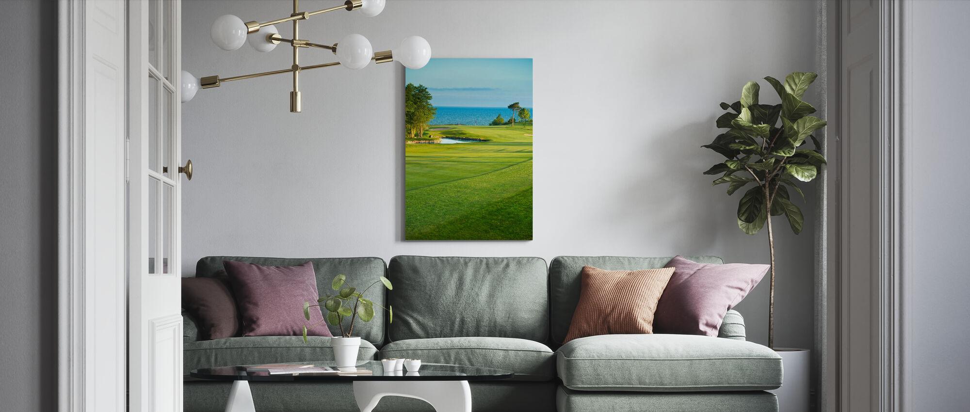 Golfbaan in Stora Lund, Zweden - Canvas print - Woonkamer