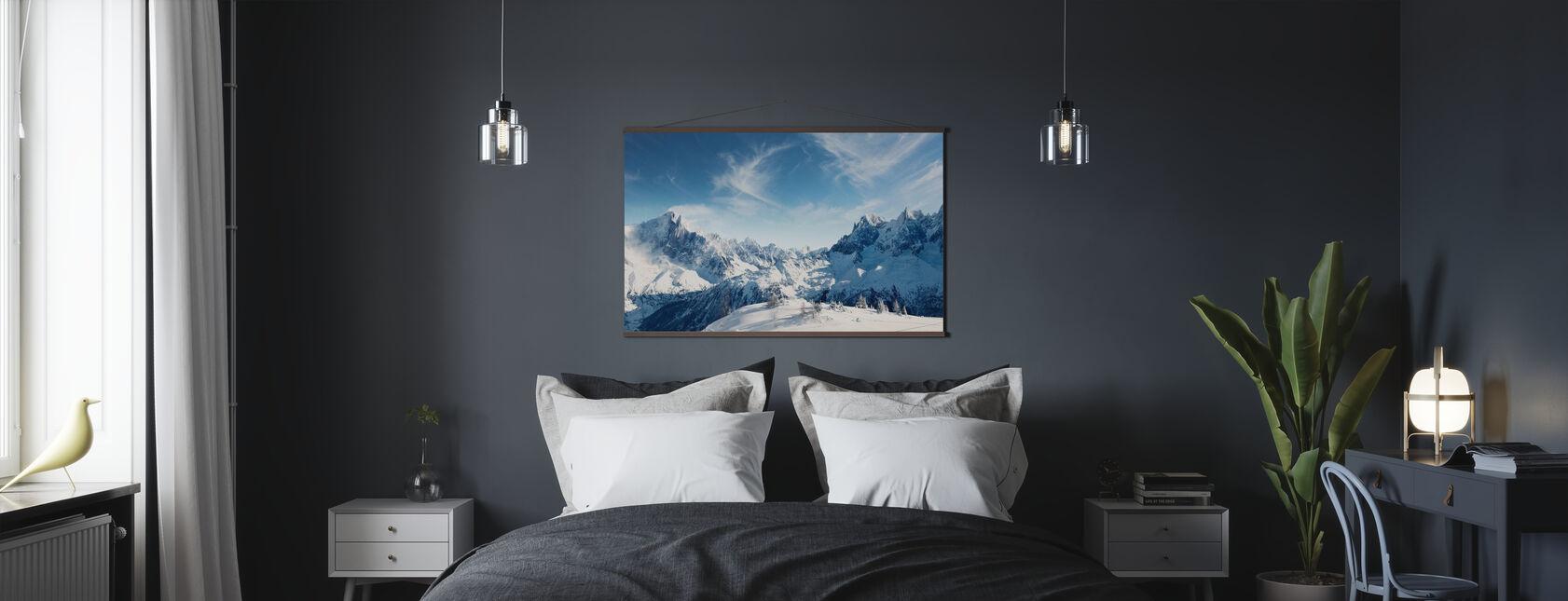 Aurinkoiset Alpit Chamonix - Juliste - Makuuhuone