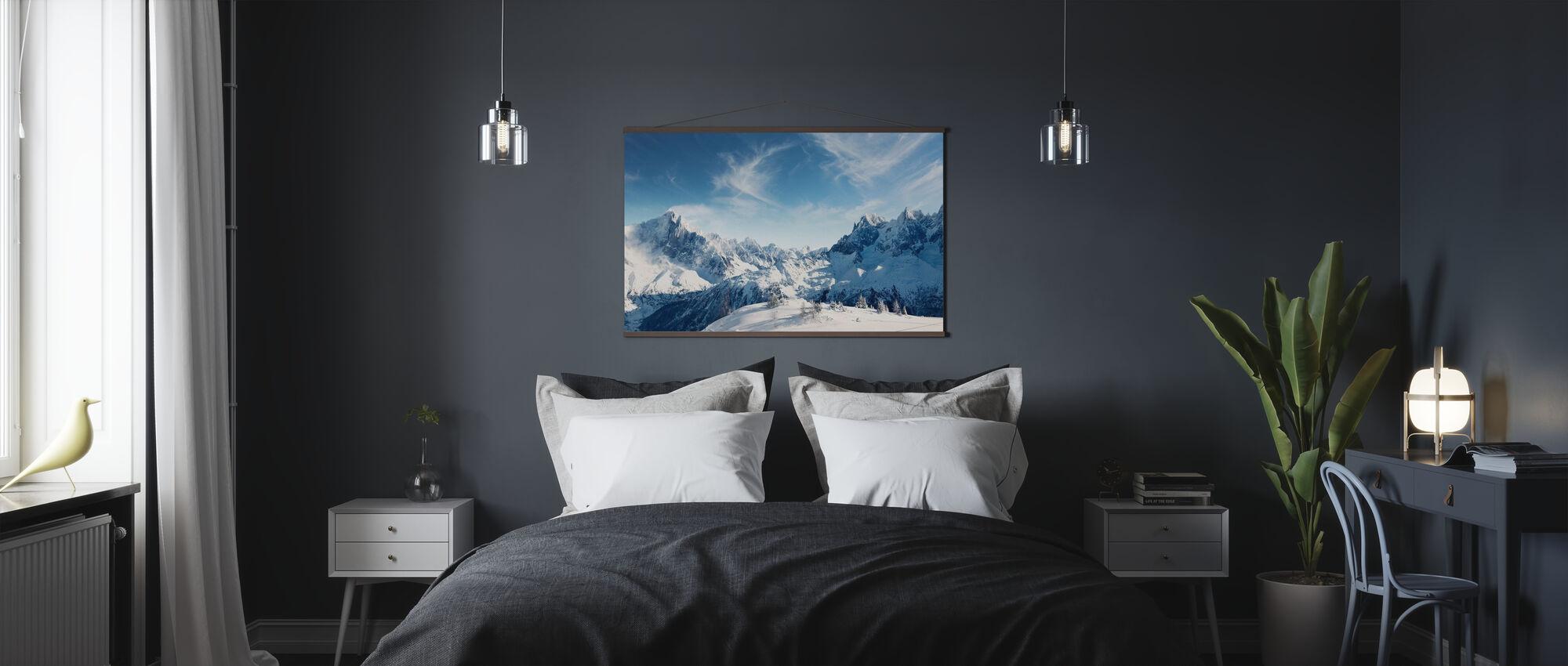 Sunny Alps in Chamonix - Poster - Bedroom